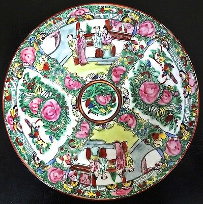 Antique Chinese Porcelain Famille Rose Plate Signed