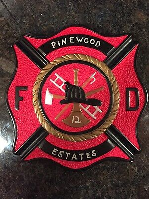 Pinwood Estates Station 12 Fire Department Plaque - Barnegat New Jersey Company