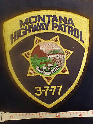 Montana Highway Patrol Patch New - Free 1st Class package shipping