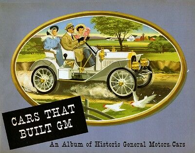 Cars That Built GM Album of Historic Cars - Vintage Booklet for GM employees