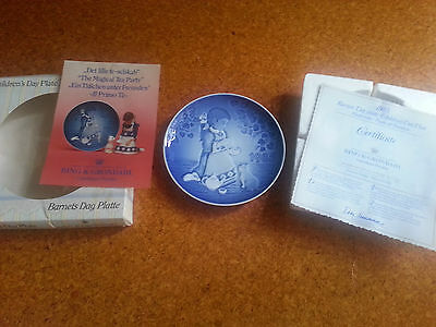 Bing and Grondahl Children's Day Collector Plate 1985 The Magical Tea Party COA