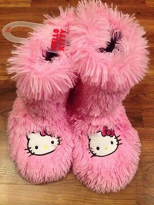 NEW Women's Hello Kitty Slippers Slipper Boots Pink  Size 7/8