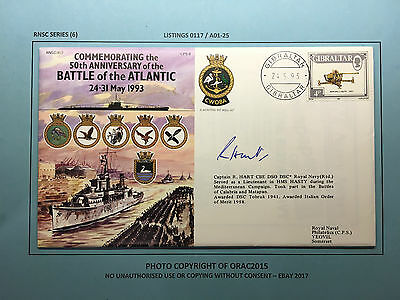 RNSC Series (6) Signed Cover No.7 SHS - 50th ANNIVERSARY BATTLE OF THE ATLANTIC