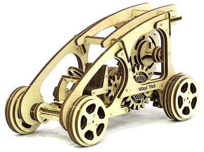BUGGY 3D Mechanical Puzzle toy car DIY wooden construction kit moving model