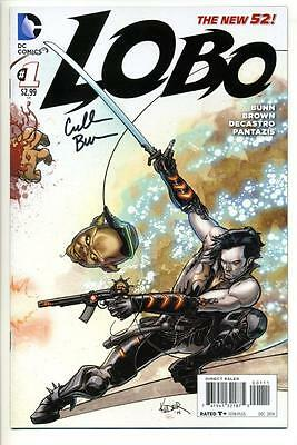 Lobo #1 (2014) First Print Signed By Cullen Bunn Dc Comics New 52 Sdcc