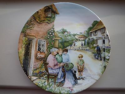 Royal Doulton,Wall Plate, Old Country Crafts, The Lacemaker, Susan Neale