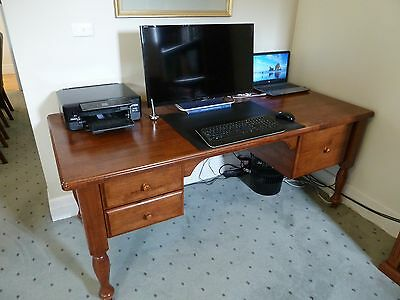 Office desk, large, solid timber, Early Settler style