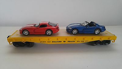 O Scale Lionel Flat Car w/ Dodge Viper Auto Load