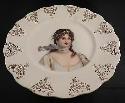 Antique Portrait Plate Queen Louise Of Prussia Sterling China/Sebring China Co