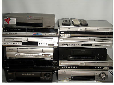 Job lot of VCR Video Tape Player Recoders DVD recorder Combo Combi x11