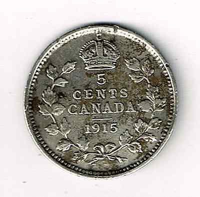 1915 Canada 5 Cents