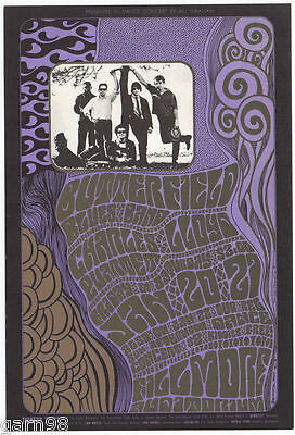 Butterfield Blues Band Charles Lloyd  Psychedelic Wilson BG Concert Poster  1967