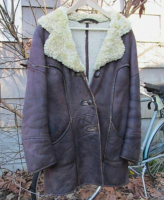 Vintage 70s Handmade Leather Shearling Coat-BoHo-Hippie-Rock!