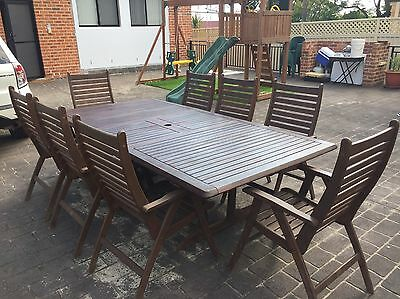 Solid Outdoor Table 8 Seater Extendable
