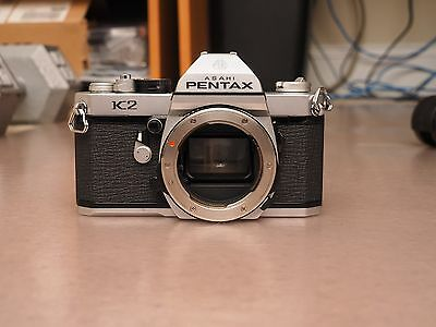 Used Pentax K2 35mm SLR Film Camera Body Only - Parts Only