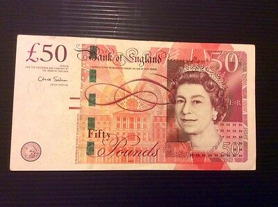 Bank Of England £50 Fifty Pound Note Low Serial Number