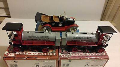 Lot #70 (3) 1910 Mack Truck & Car Texaco Banks