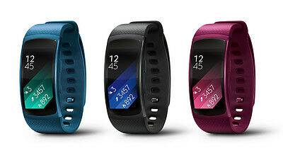 Genuine Samsung Gear Fit 2 (Large) GPS Fitness Tracker Smart Watch Band SM-R360