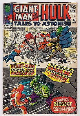 TALES TO ASTONISH 63 Glossy VG- Burgos, Ditko  Origin of Leader; Giant-Man pinup