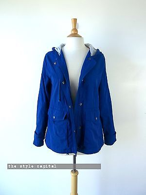 CAPE [ Size 12 ] Ladies Blue All Weather Hooded Jacket