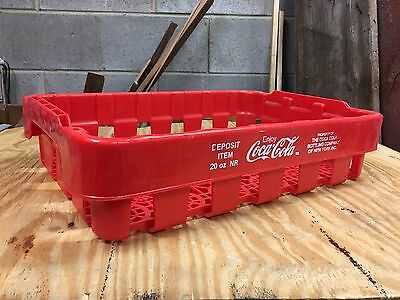 Vintage COCA COLA COKE red plastic CASE CRATE CARRIER TRAY