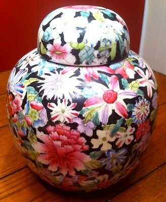 CHINESE PORCELAIN GINGER JAR Signed-Late 1800's to Early 1900's