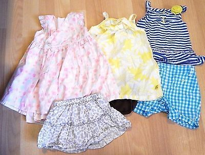 Mixed Lot Baby Girl Summer Clothing Shorts Top Dress 9 Month Hilfiger Carters