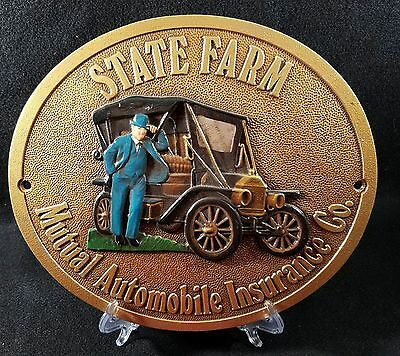 State Farm Mutual Automobile Insurance Co. Metal Advertising Plaque