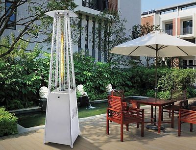 Fire Table Top Gas Patio Heater Real Flame Outdoor Garden Stainless Steel 13Kw