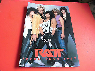 VERY RARE! RATT Japan Tour Program 1987 Dancing Undercover  Japanese brochure