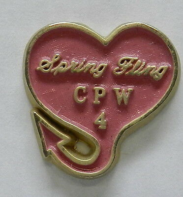 Chrysler Plymouth Heart C P W 4 Hat Pin Pinback Button Cuda Gtx Rr Mopar Promo