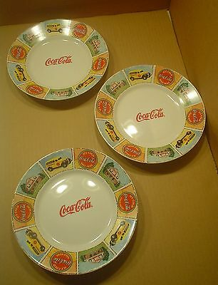 Gibson Coca-Cola ~ 3 Lunch Plates ~ 8¾ Inches ~ Good Ol' Days