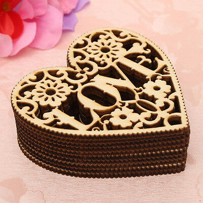 Hot 1Pc Creative Hollow Wooden Heart Shapes Hand Crafts Home Wedding Decoration