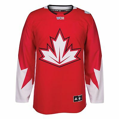 Men's Canada Hockey adidas Red World Cup of Hockey 2016 Premier Jersey - LARGE