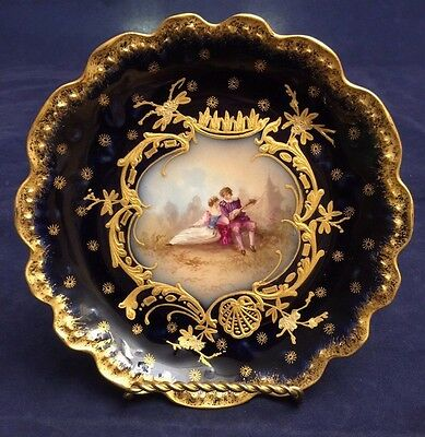 Beautiful Vintage Sevres Hand Painted Courting Couple Plate