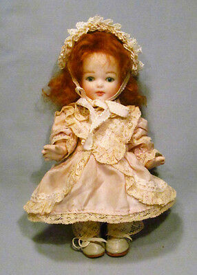 Artist Repro ? All Bisque Jointed Glass Eyes Red-Head Baby Toddler Girl Doll