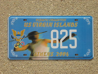 US Virgin Islands Olympic License Plate