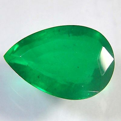 E21@ 11.00 Cts royal green emerald doublets quartz pear cut gemstone for jewelry