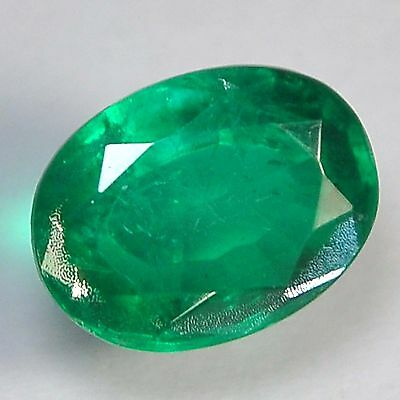 E21@ 8.15 Cts royal green emerald doublets quartz oval cut gemstone for jewelry