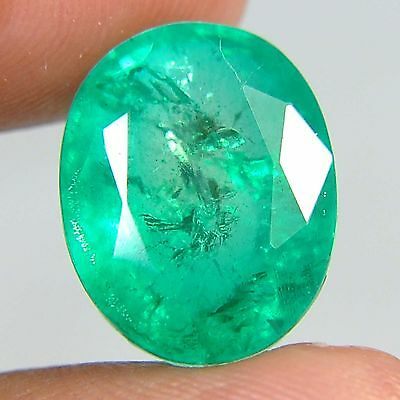 F13@ 9.50 Cts royal green emerald doublets quartz oval cut gems to jewelry