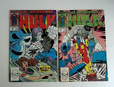 The Incredible Hulk Lot of 2 Issues #360 361 (1989) VG NM