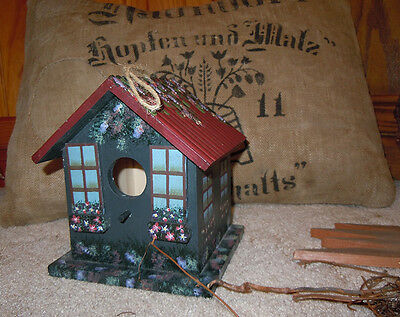 Handcrafted Floral Birdhouse