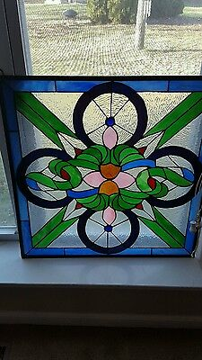 Stained Glass Window Hanging  24 X 24