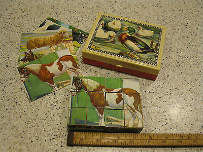 Vintage Hermann Eichhorn Wood Block Puzzle in Plastic Box W. Germany