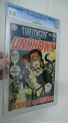 Challengers of the Unknown 72 CGC 9.4 Neal Adams Cover