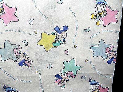 Vintage Disney Babies Window Panel Curtain with Valance Ruffle Attached Fabric