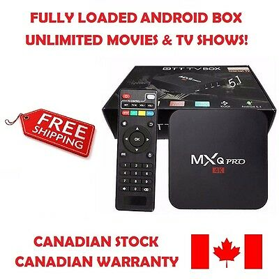 MXQ Pro Android TV Box S905 Quad-Core, Stream Movies & TV Shows FREE Today!