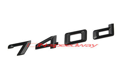 Matte Black 740d Rear Trunk Letter Emblem Badge Decal For BMW F01 F02 7-Series