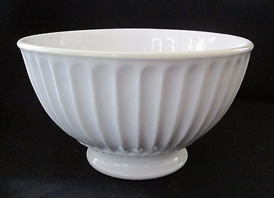 Lenox Footed Rice Bowl 3 inches Deep Fluted & Beaded Top of Foot EUC