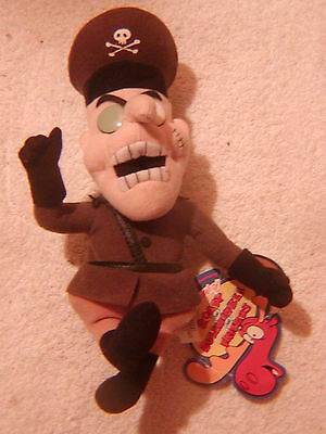 "Fearless Leader beanie plush toy 9"" tag Rocky Bullwinkle CVS 2000 Stuffins"